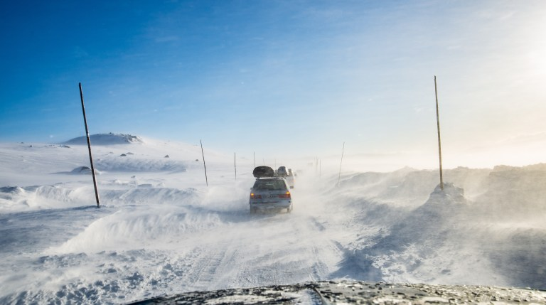 Norway Snowkiting - Drive on the plateau
